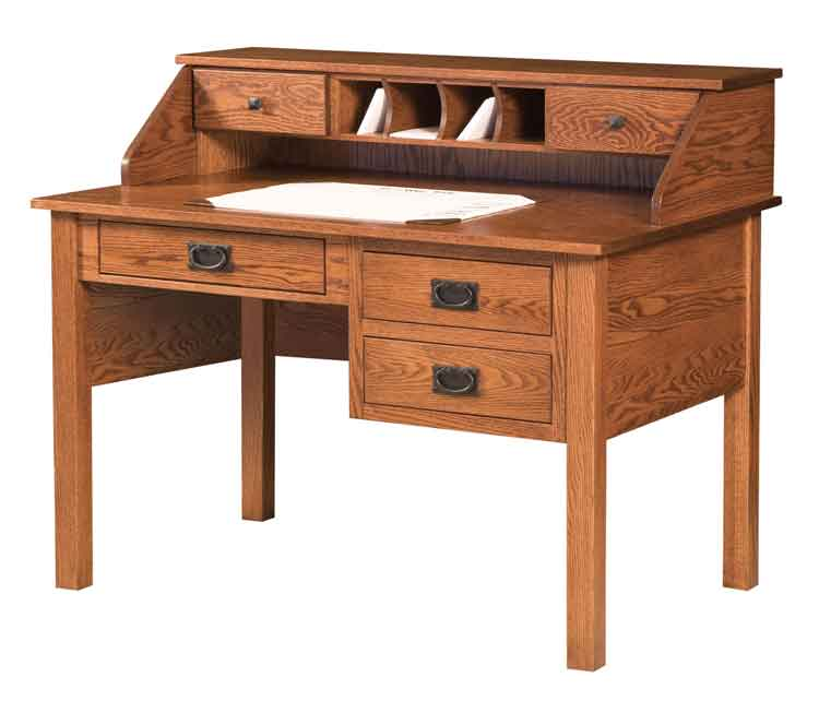 Amish Mission Desk with Paymaster Hutch